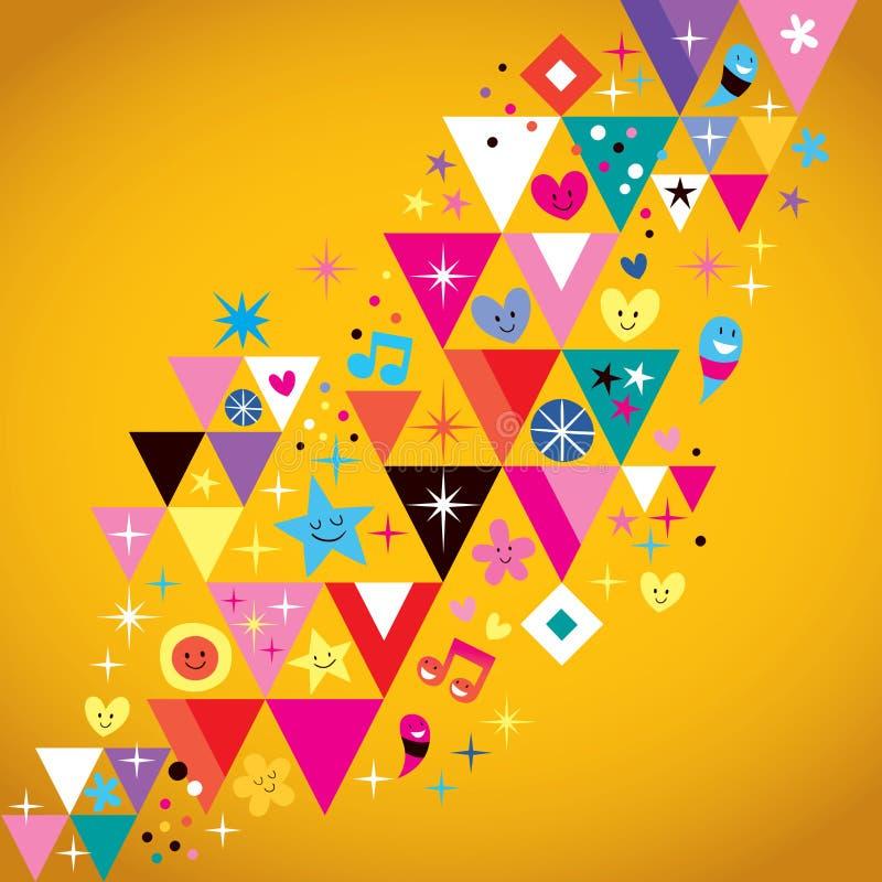 Priorità bassa dei triangoli di divertimento royalty illustrazione gratis