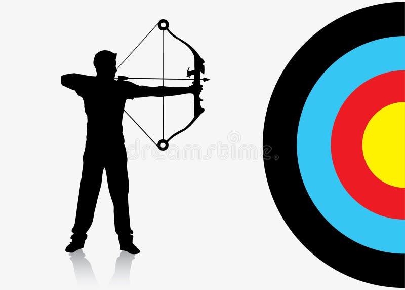 Priorità bassa del archer di sport illustrazione di stock