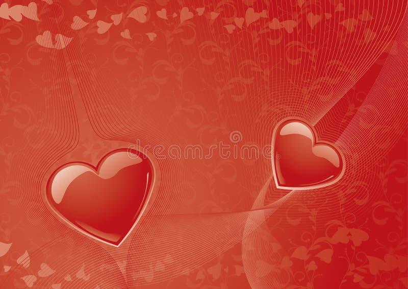 Priorità bassa del biglietto di S. Valentino illustrazione vettoriale