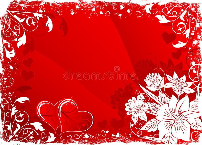 Priorità bassa del biglietto di S. Valentino royalty illustrazione gratis
