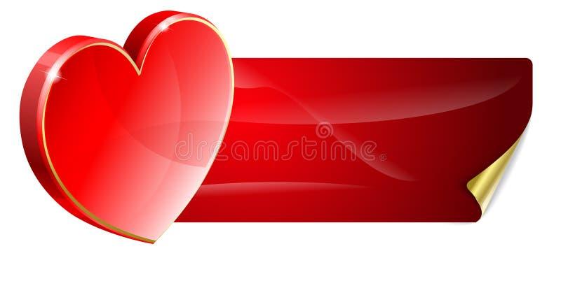 Priorità bassa del biglietto di S. Valentino illustrazione di stock