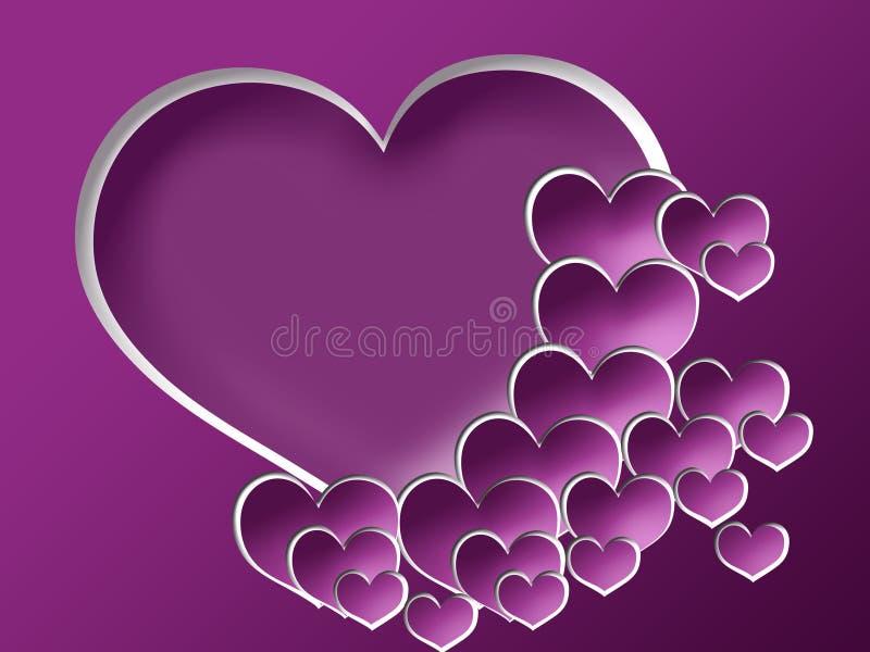 Priorità bassa del biglietto di S. Valentino con il blocco per grafici della foto royalty illustrazione gratis