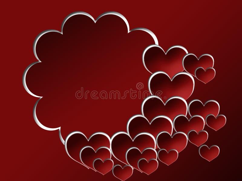 Priorità bassa del biglietto di S. Valentino con il blocco per grafici della foto illustrazione vettoriale