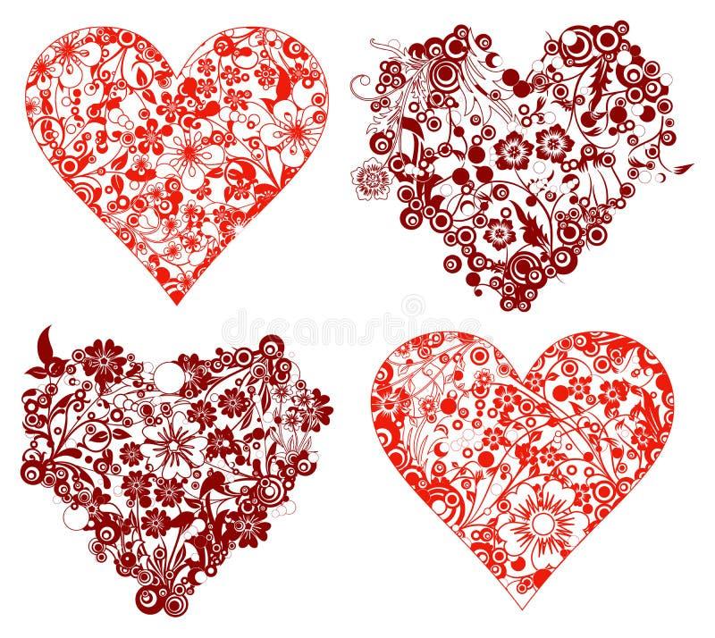 Priorità bassa del biglietto di S. Valentino, cuori, vettore royalty illustrazione gratis