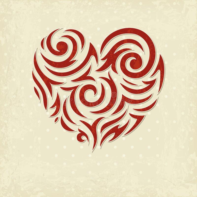Priorità bassa del biglietto di S. Valentino di Grunge royalty illustrazione gratis