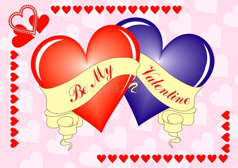 Priorità bassa del biglietto di S. Valentino, scheda, vettore illustrazione vettoriale