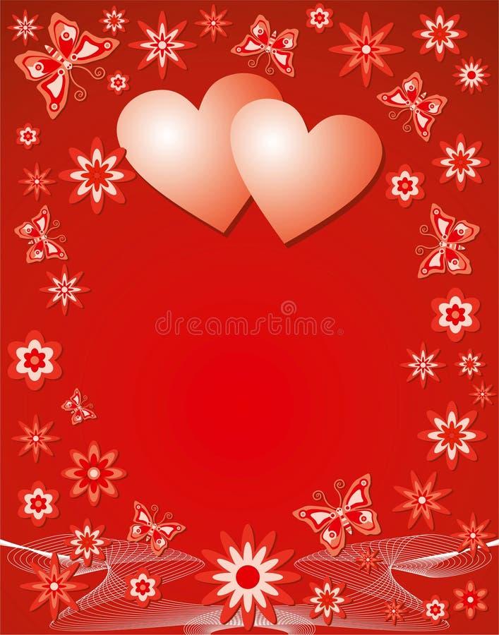 Priorità bassa del biglietto di S. Valentino, vettore illustrazione vettoriale