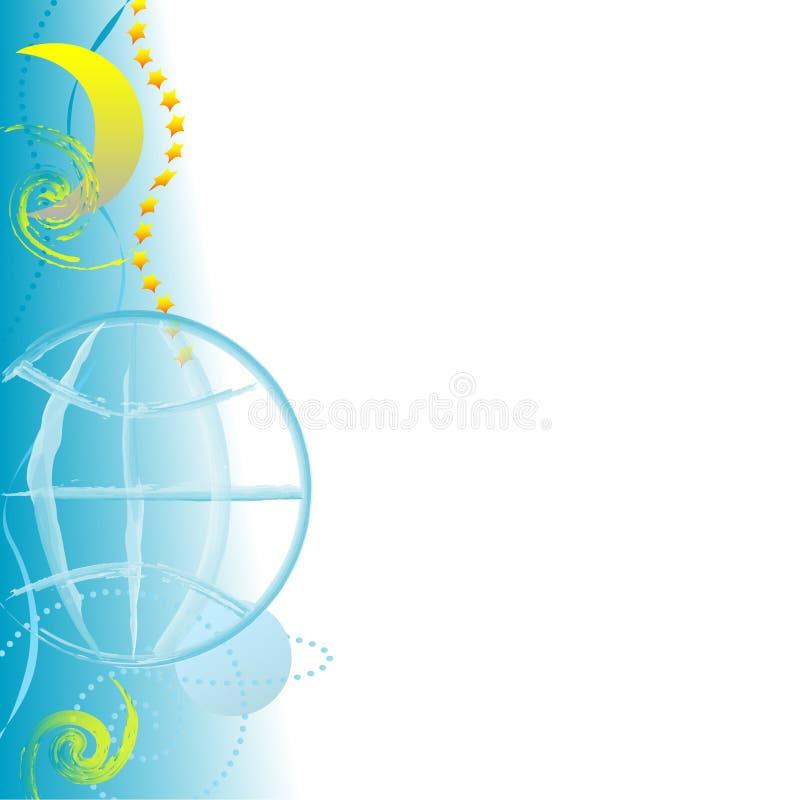 Priorità bassa del bordo del globo di Grunge royalty illustrazione gratis