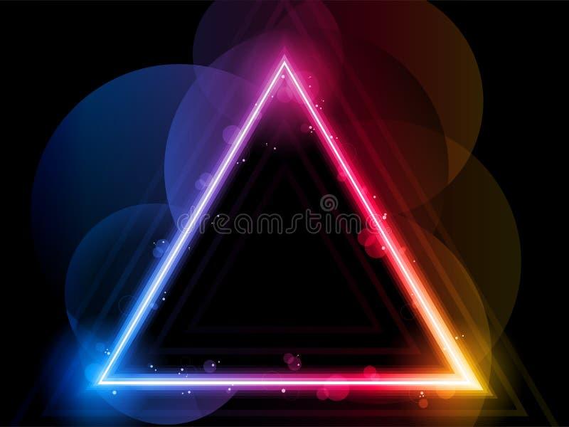 Priorità bassa del bordo del triangolo del Rainbow illustrazione di stock