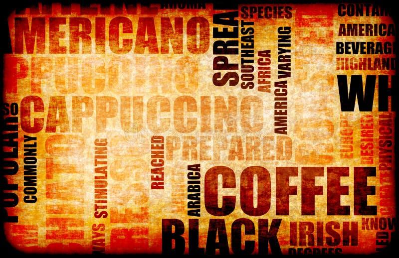 Priorità bassa del caffè illustrazione di stock