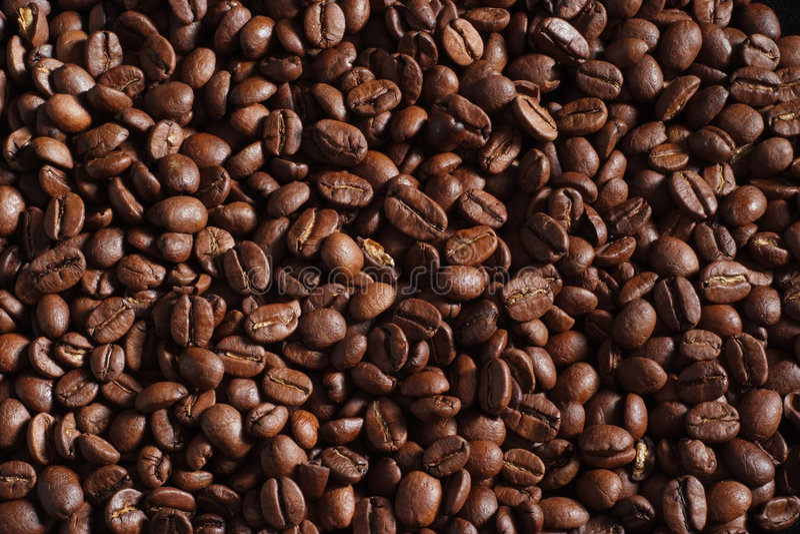 Priorità bassa del chicco di caffè fotografie stock
