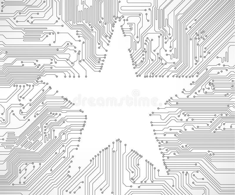 Priorità bassa del circuito con la stella illustrazione di stock