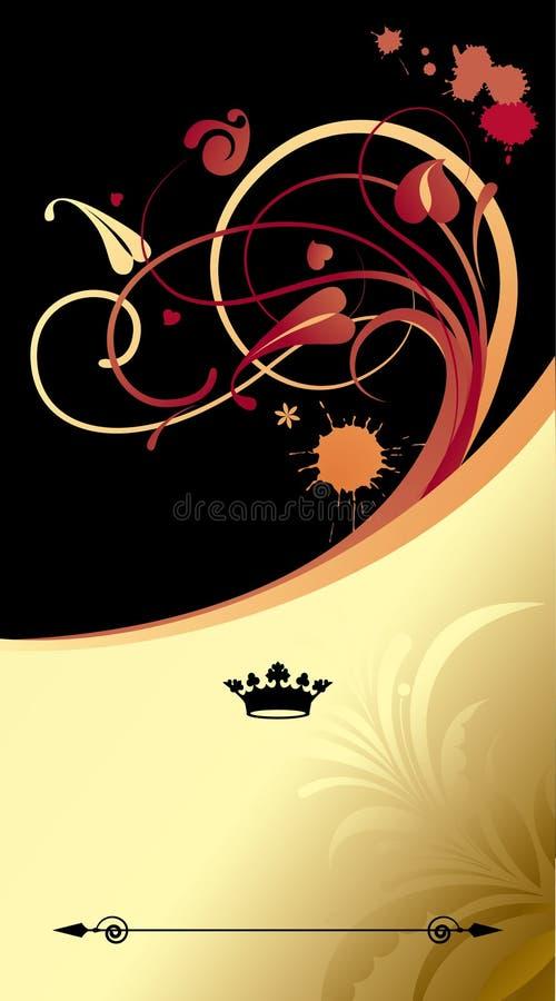 Priorità bassa del classico dell'oro royalty illustrazione gratis