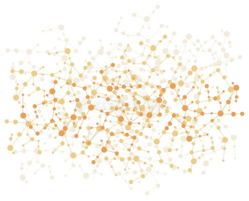 Priorità bassa del collegamento della molecola illustrazione vettoriale
