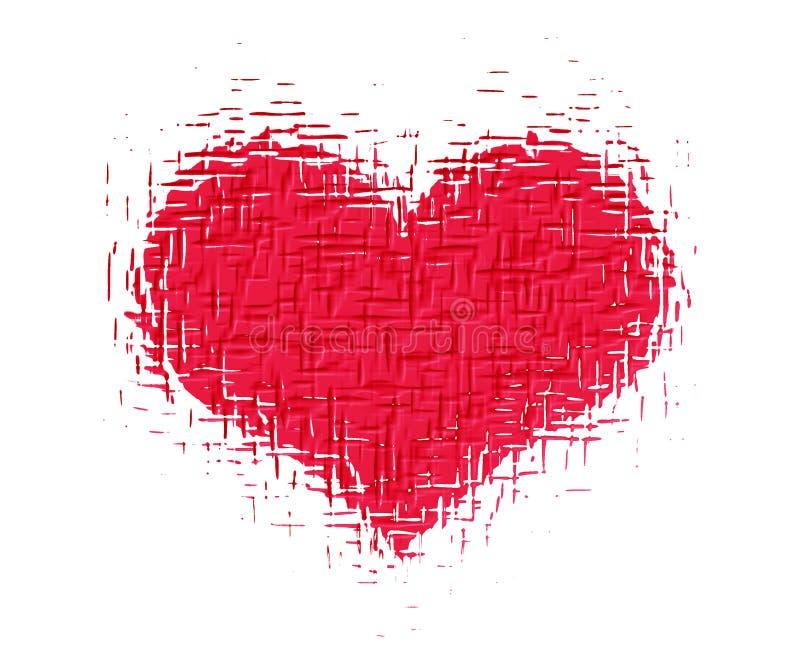 Priorità bassa del cuore illustrazione vettoriale