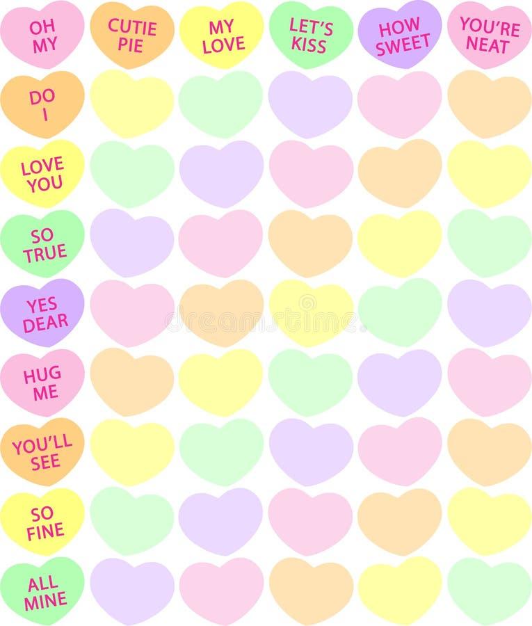 Priorità bassa del cuore della caramella illustrazione di stock