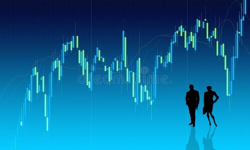 Priorità bassa del diagramma con la gente illustrazione di stock