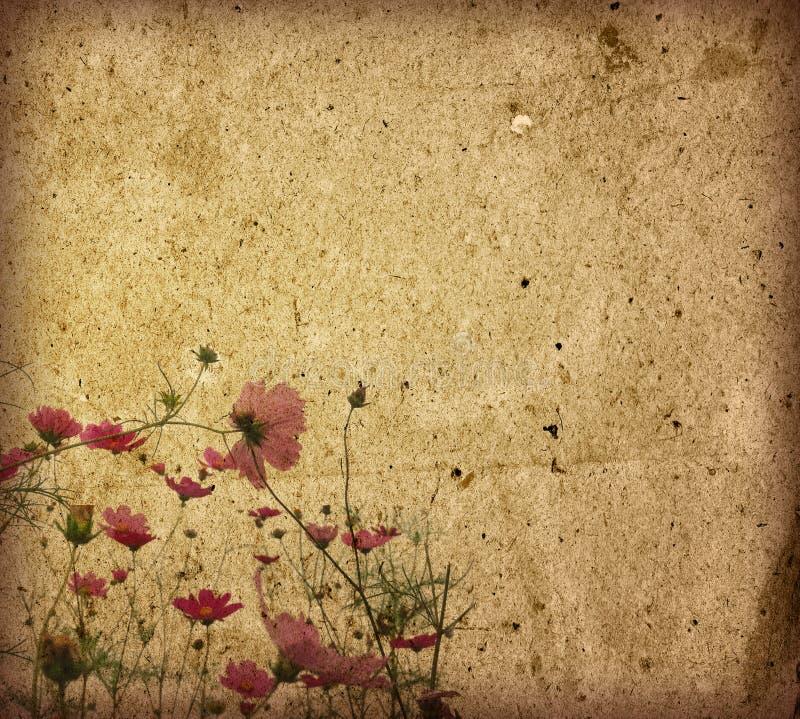 Priorità bassa del documento del fiore dell'annata illustrazione vettoriale