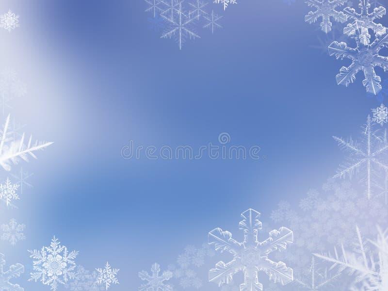 Priorità bassa del fiocco della neve illustrazione vettoriale