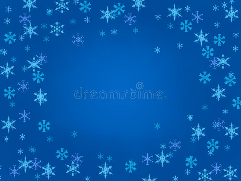 Priorità bassa del fiocco di neve royalty illustrazione gratis