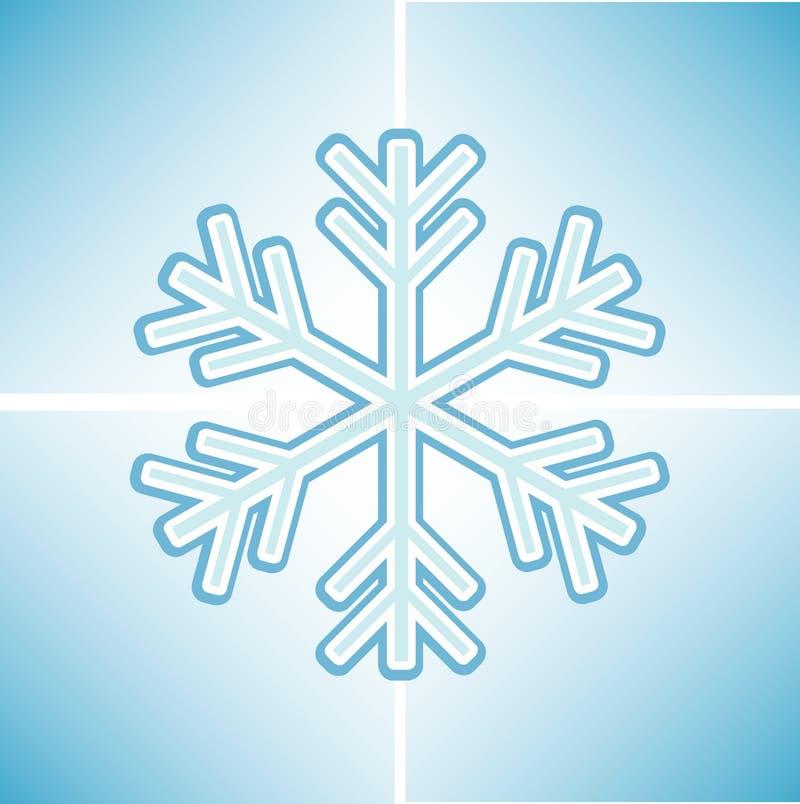 Priorità bassa del fiocco di neve illustrazione vettoriale