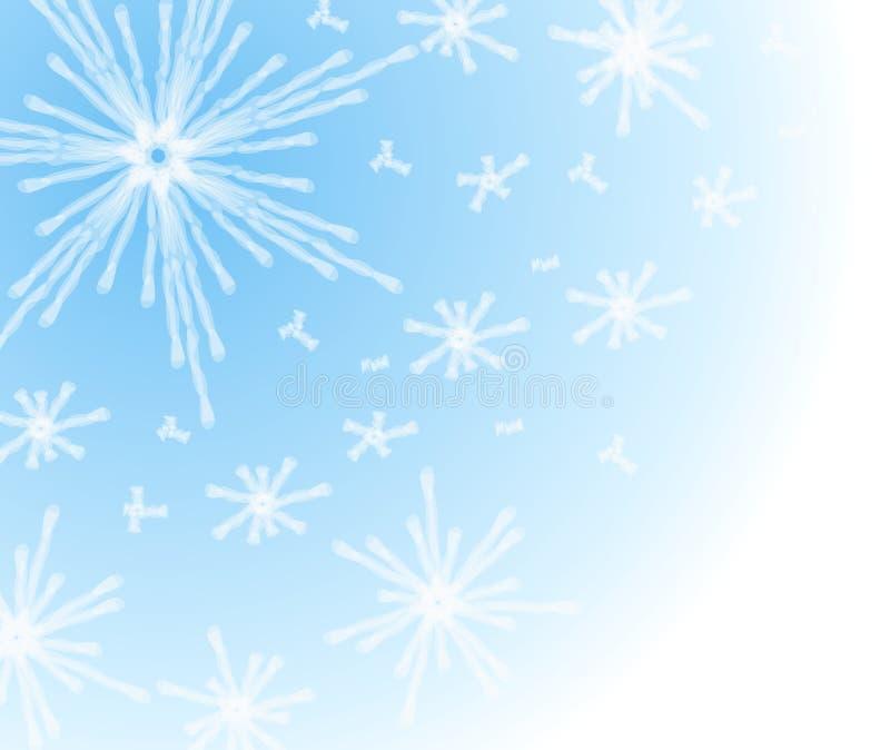 Priorità bassa del fiocco di neve di inverno illustrazione di stock