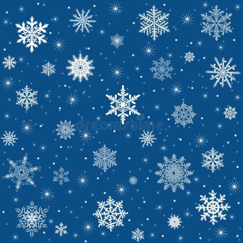 Priorità bassa del fiocco di neve di vettore illustrazione vettoriale