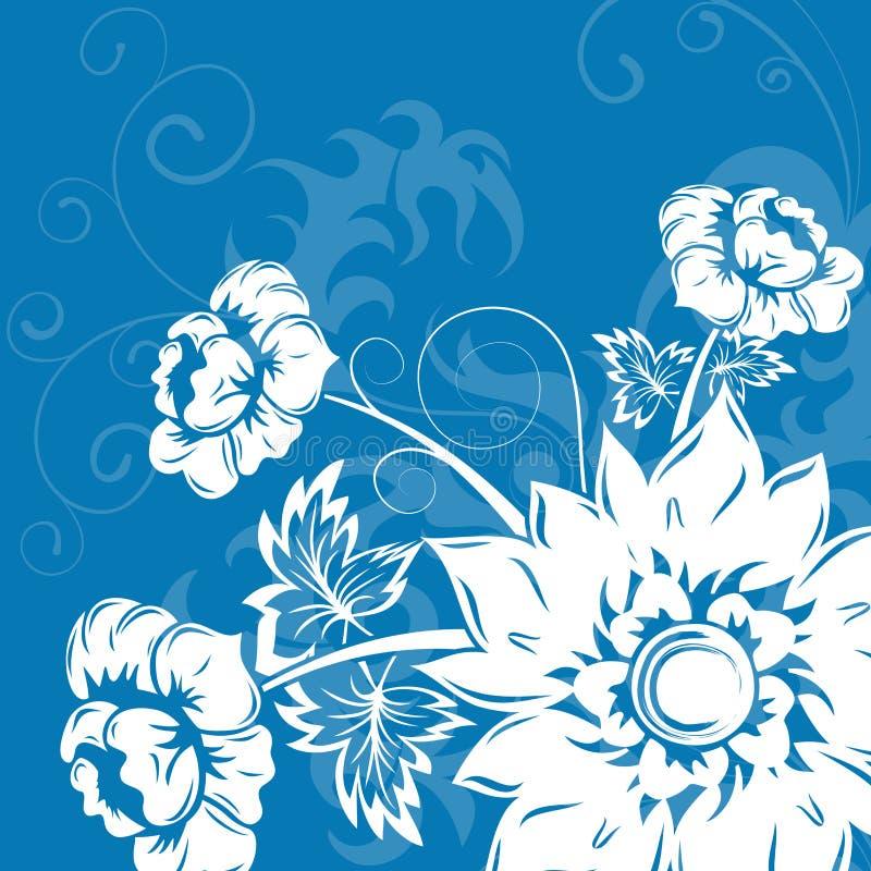 Priorità bassa del fiore illustrazione di stock