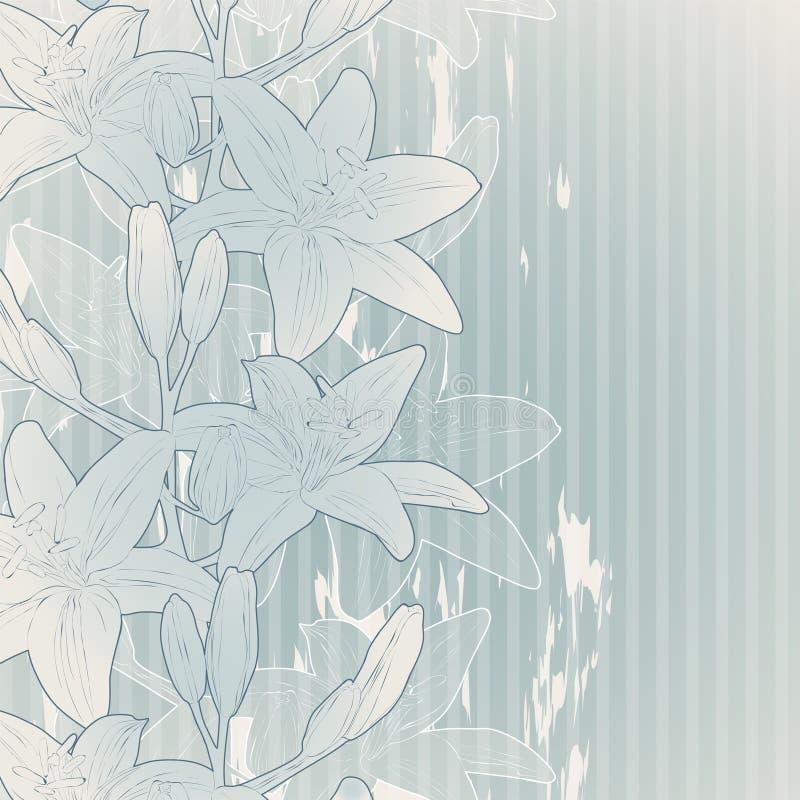Priorità bassa del fiore dell'annata royalty illustrazione gratis