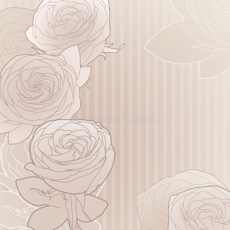 Priorità bassa del fiore dell'annata illustrazione vettoriale