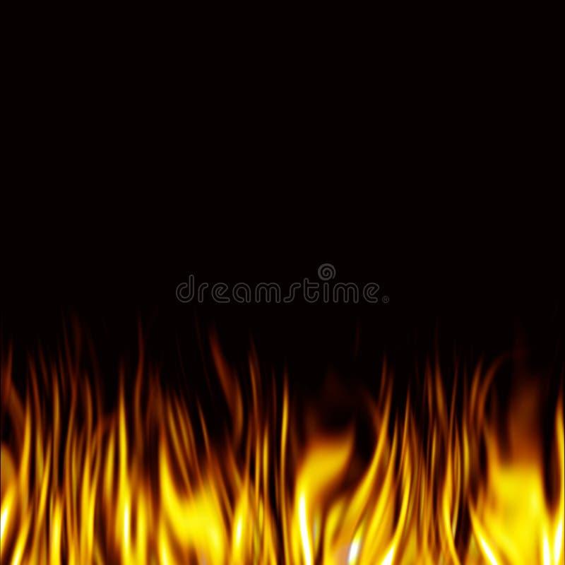 Priorità bassa del fuoco illustrazione di stock