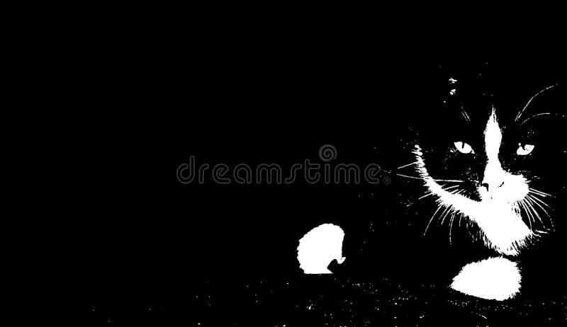 Priorità bassa del gattino di arte di schiocco royalty illustrazione gratis