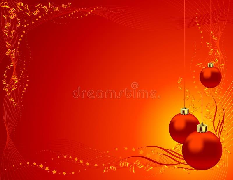 Priorità bassa del giocattolo dell'albero di Natale illustrazione vettoriale