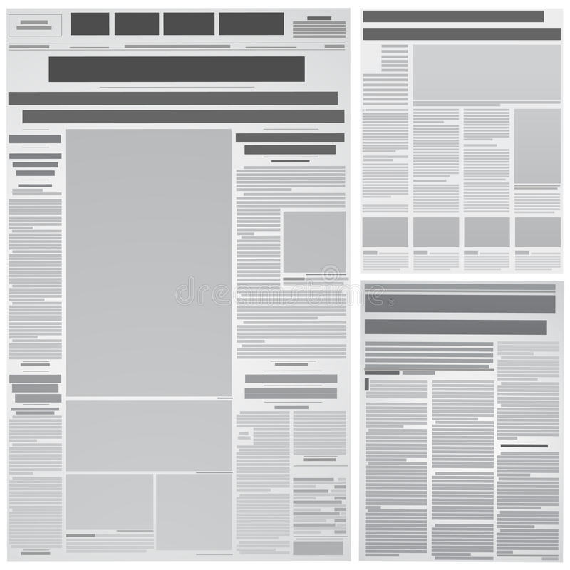 Priorità bassa del giornale illustrazione vettoriale