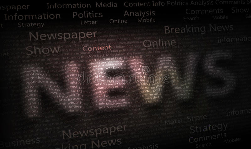 Priorità bassa del giornale di notizie fotografia stock libera da diritti