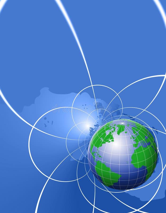 Priorità bassa del globo illustrazione vettoriale