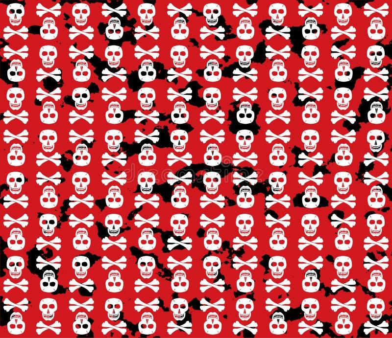Priorità bassa del grunge dei crani. illustrazione di stock