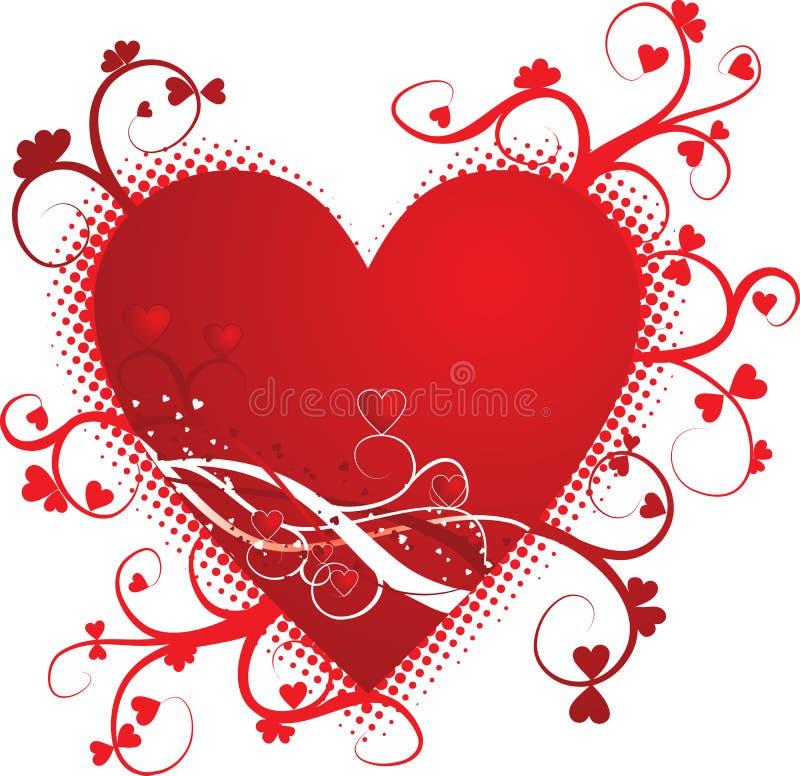 Priorità bassa del grunge del biglietto di S. Valentino, illustrazione di vettore royalty illustrazione gratis