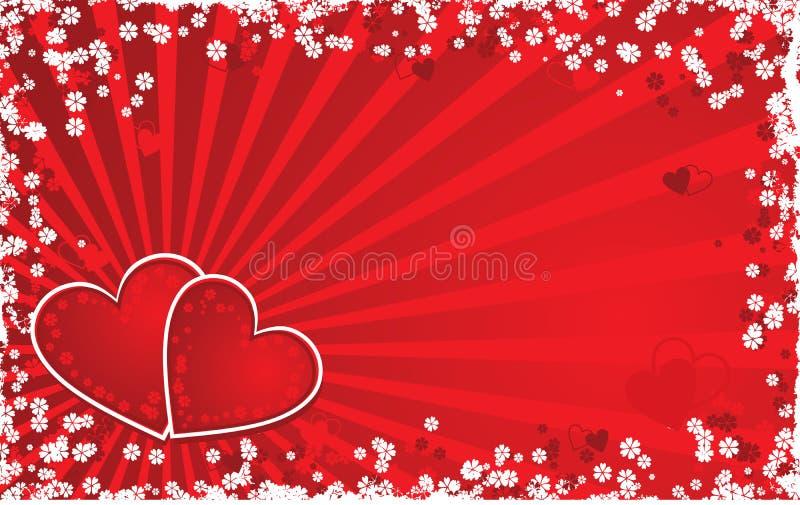 Priorità bassa del grunge del biglietto di S. Valentino, vettore illustrazione di stock
