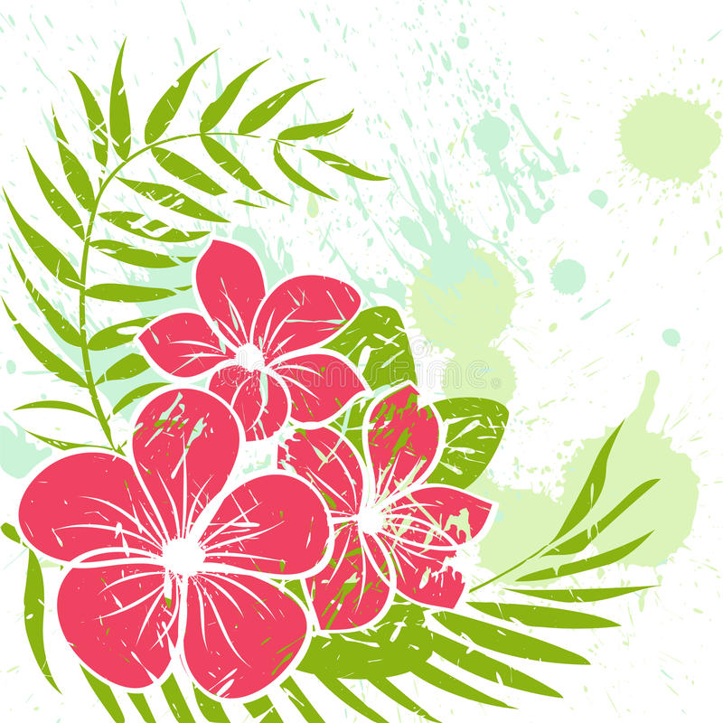 Priorità bassa del grunge del fiore illustrazione vettoriale