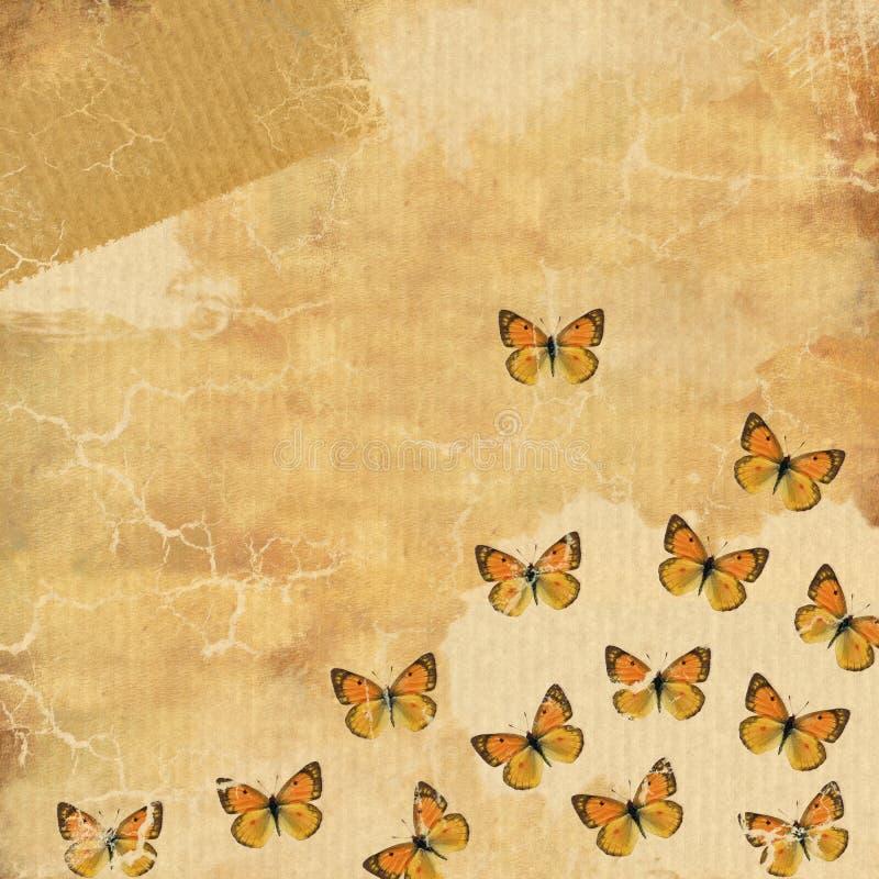 Priorità bassa del grunge della farfalla royalty illustrazione gratis