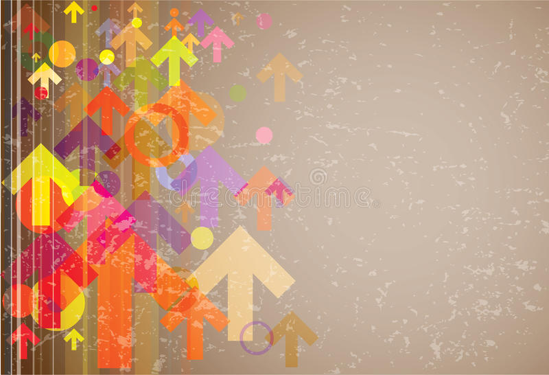 Priorità bassa del grunge delle frecce colorata estratto royalty illustrazione gratis