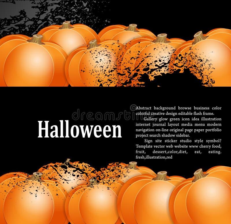 priorità bassa del grunge per la festa Halloween illustrazione di stock