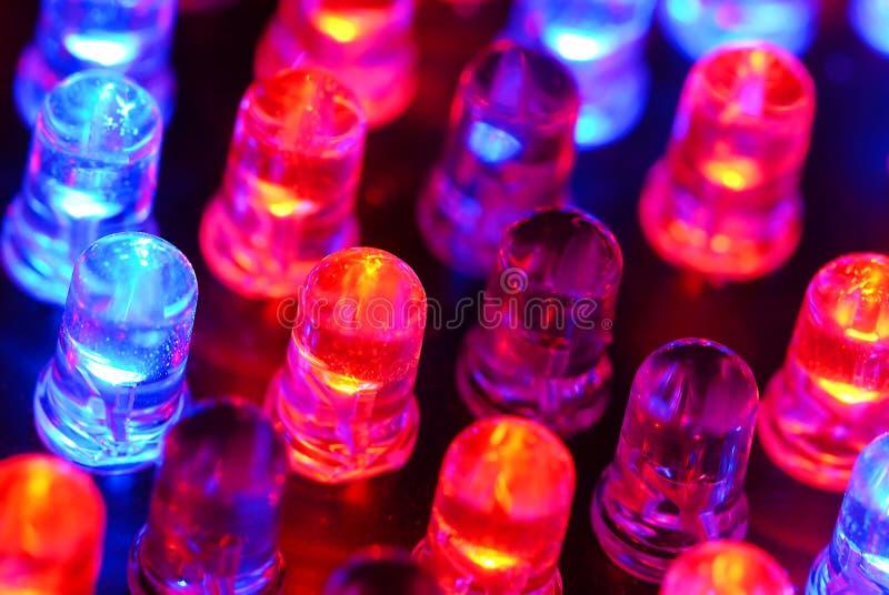 Priorità bassa del LED fotografia stock libera da diritti