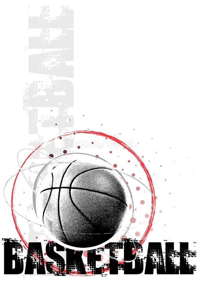 Priorità bassa del manifesto del cerchio di pallacanestro illustrazione vettoriale