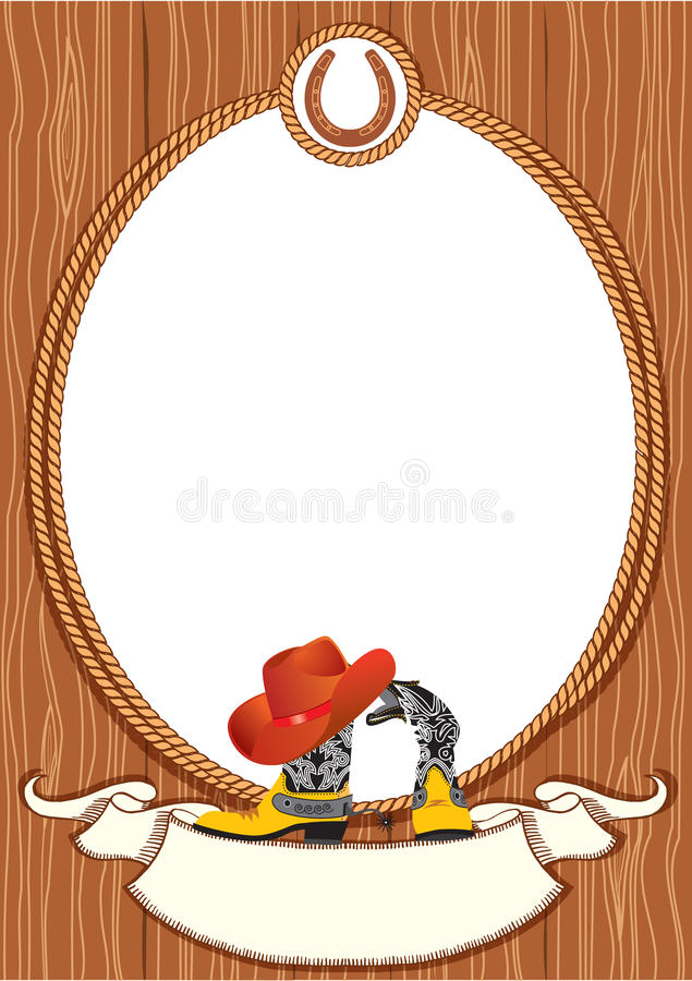 Priorità bassa del manifesto del cowboy royalty illustrazione gratis