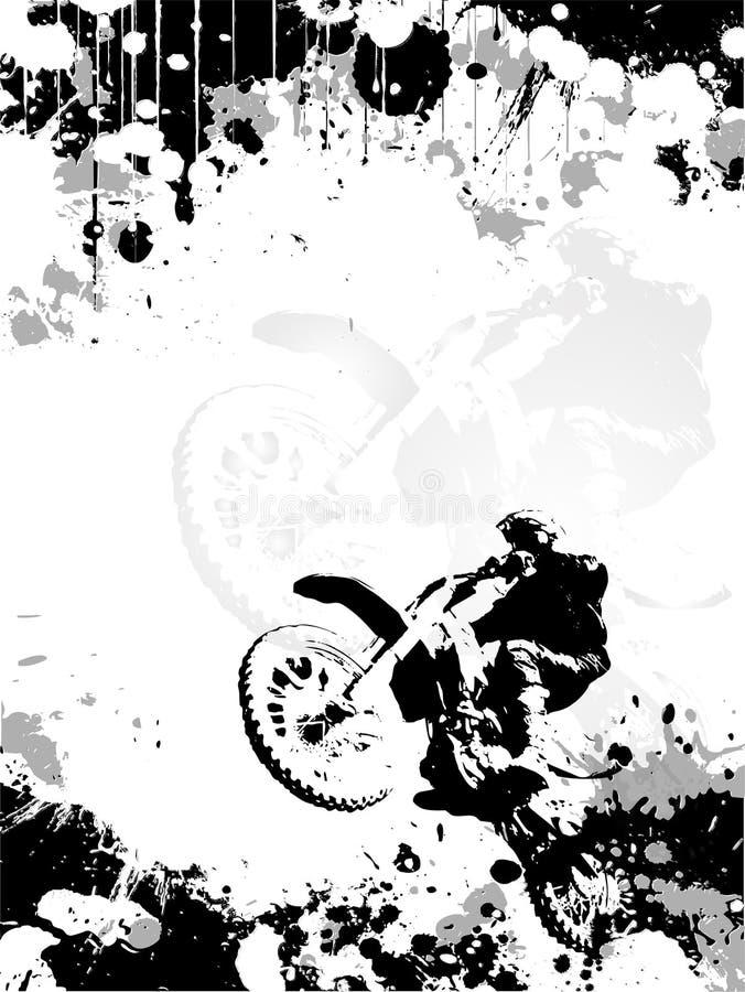Priorità bassa del manifesto di motocross illustrazione di stock
