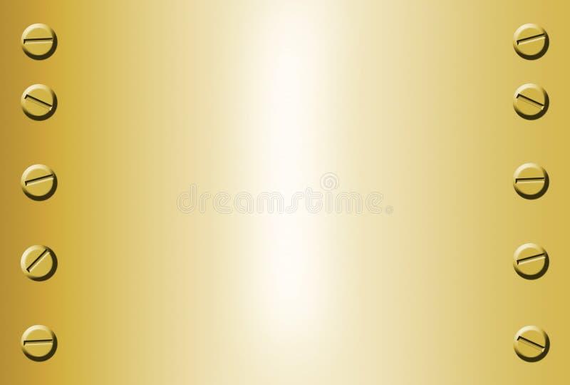 Priorità bassa del metallo dell'oro illustrazione vettoriale
