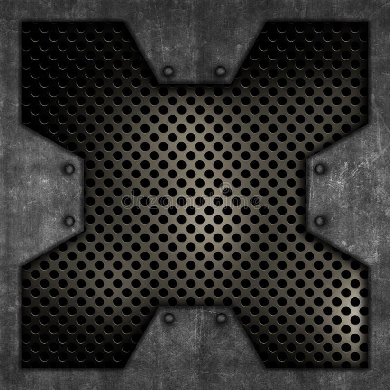 Priorità bassa del metallo di Grunge illustrazione di stock