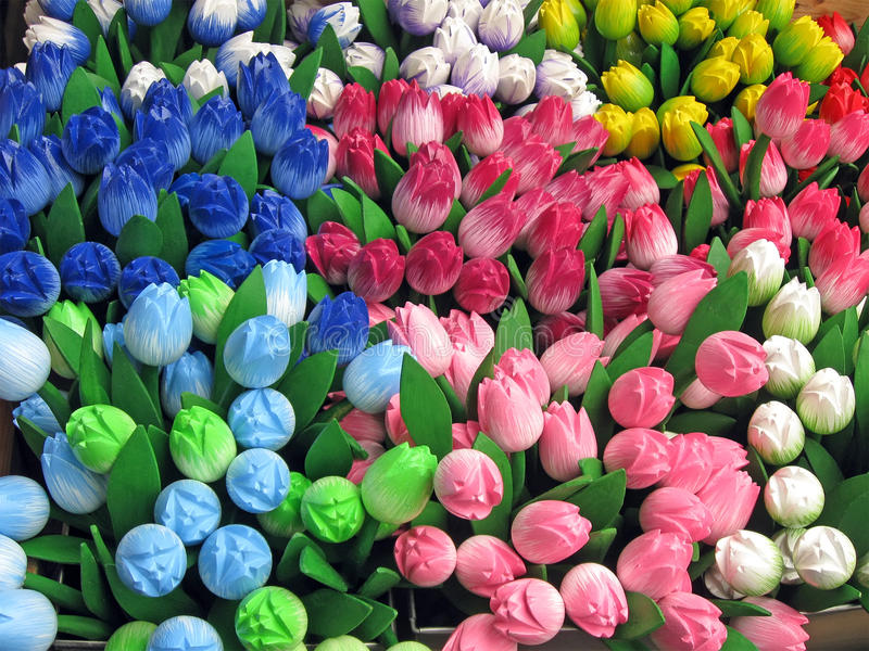 Priorità bassa del mucchio di diversità del tulipano, fotografia stock libera da diritti